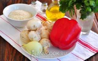 Постный фаршированный перец с рисом