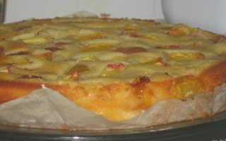 Пирог с фруктами простой рецепт