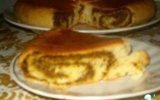 Пирог из печенья в мультиварке