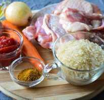 Рис с мясом и томатной пастой
