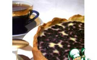 Рецепт пирога с голубикой