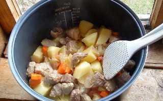 Потушить картошку с мясом в мультиварке редмонд
