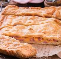 Пирог с ветчиной и сыром калорийность
