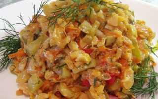 Рагу из кабачков с рисом рецепт