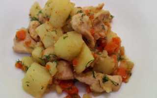 Рагу из индейки с картофелем и овощами