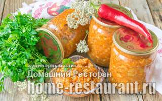Рецепт рагу из кабачков на зиму