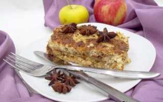 Пирог с яблоками посыпанный крошкой