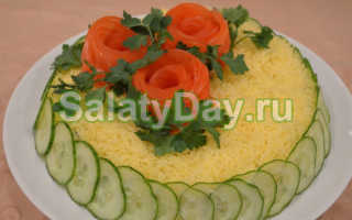 Рецепт салата белые ночи видео