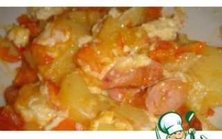 Рагу из капусты и картофеля с сосисками
