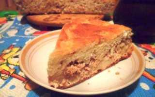Пирог с тунцом консервированным и рисом