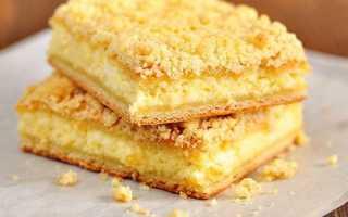 Пирог творожный с крошкой рецепт с маргарином