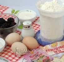 Пирог с замороженной ежевикой рецепт с фото