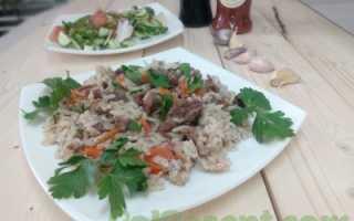 Рецепт рис с тушенкой в мультиварке