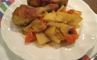 Рецепт куриные ножки с картошкой в рукаве