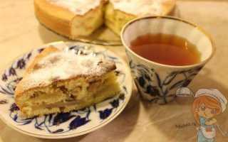 Пирог с яблоками без молока и кефира