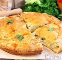 Пирог курник с курицей и картошкой рецепт