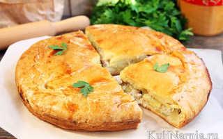 Рецепт пирога курник с курицей и картошкой