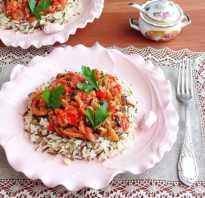 Рис с овощами и сливками