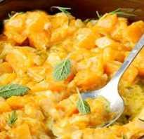 Рецепт тыквы в сметанном соусе и чесноком