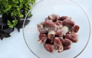 Рецепт вкусных куриных сердечек в сметанном соусе