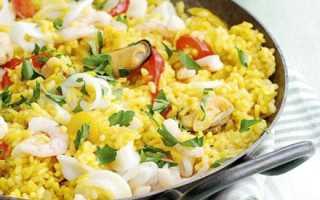 Рис с морепродуктами по японски
