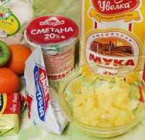 Рецепт сметанника с фруктами