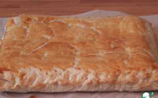 Пирог из адыгейского сыра и слоеного теста