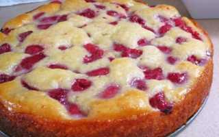 Пирог на кефире рецепт с замороженными ягодами