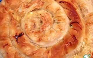 Пирог улитка с капустой