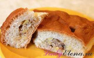 Пирог с сырым картофелем и мясом