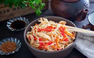 Рецепт приготовления рисовой лапши с курицей