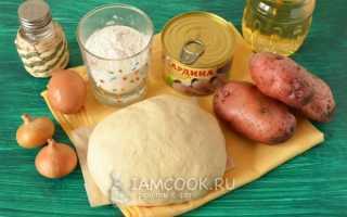 Пирог с рыбой консервированной и картошкой рецепт