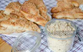 Посыпка на пирог из масла и муки