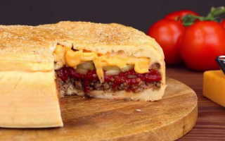Рецепт пирога чизбургера в домашних условиях