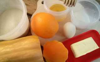 Пирог с тыквой и апельсином рецепт