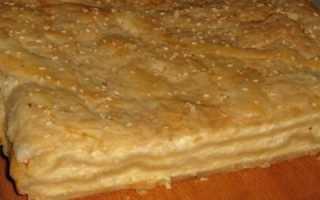 Пирог греческий из слоеного теста с брынзой