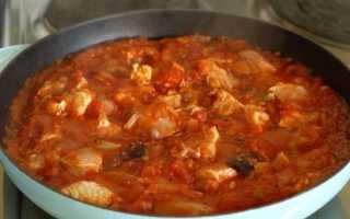 Подлива для курицы из томатной пасты