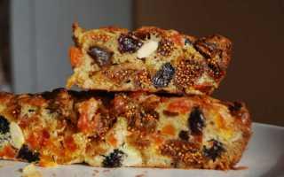 Рецепт пирога из сухофруктов