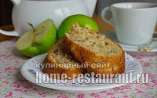 Пирог с яблоками орехами и медом