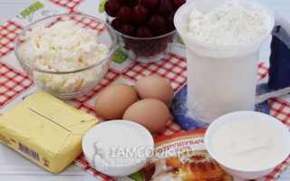 Рецепт творожно вишневого пирога