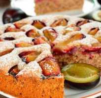 Рецепт пирога со сливами от юлии высоцкой
