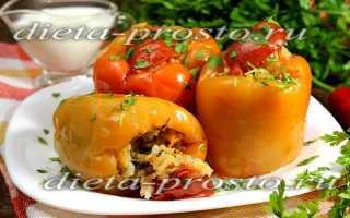 Перец фаршированный капустой и рисом рецепт