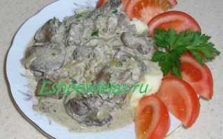 Печень куриная в сливочном соусе рецепт