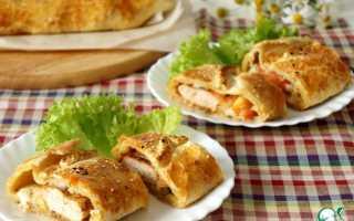 Пирог итальянский с курицей