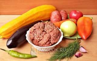 Рагу из кабачков и картошки с фаршем