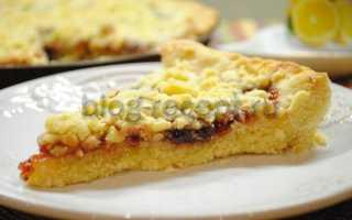 Пирог песочный с вареньем рецепт пошаговый