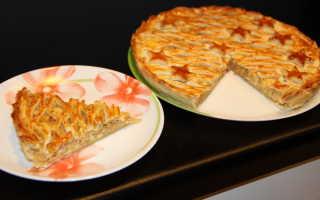 Пирог с луком и сырками дружба