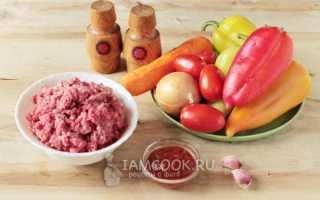 Перцы фаршированные без риса в кастрюле