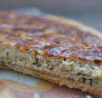 Рецепт заливного пирога с курицей и сыром