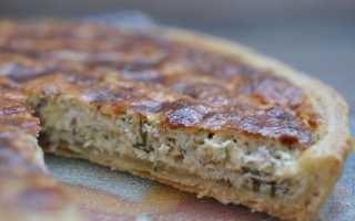 Пирог с курицей и сыром на молоке